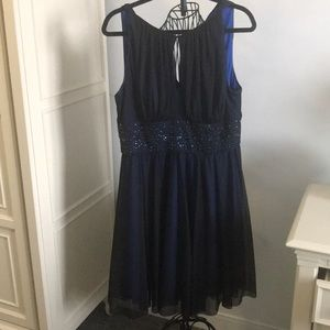 Black/Navy Jessica Howard Dress